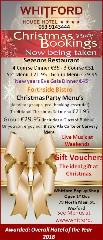 Christmas Fesitivies at Whitford House Hotel