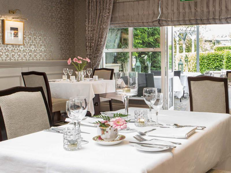 The elegant and multi-award winning Seasons Restaurant at the Whitford House Hotel in Wexford