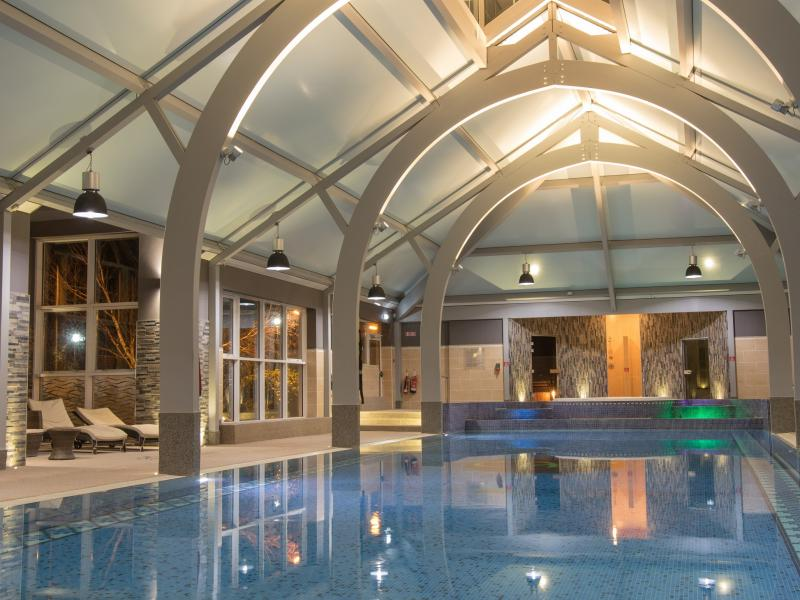Leisure Club with swimming pool and jacuzzi at the Whitford House Hotel