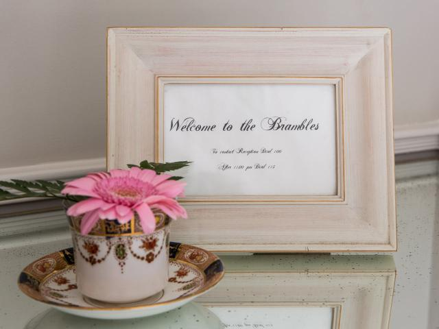 Welcome to the Brambles picture frame